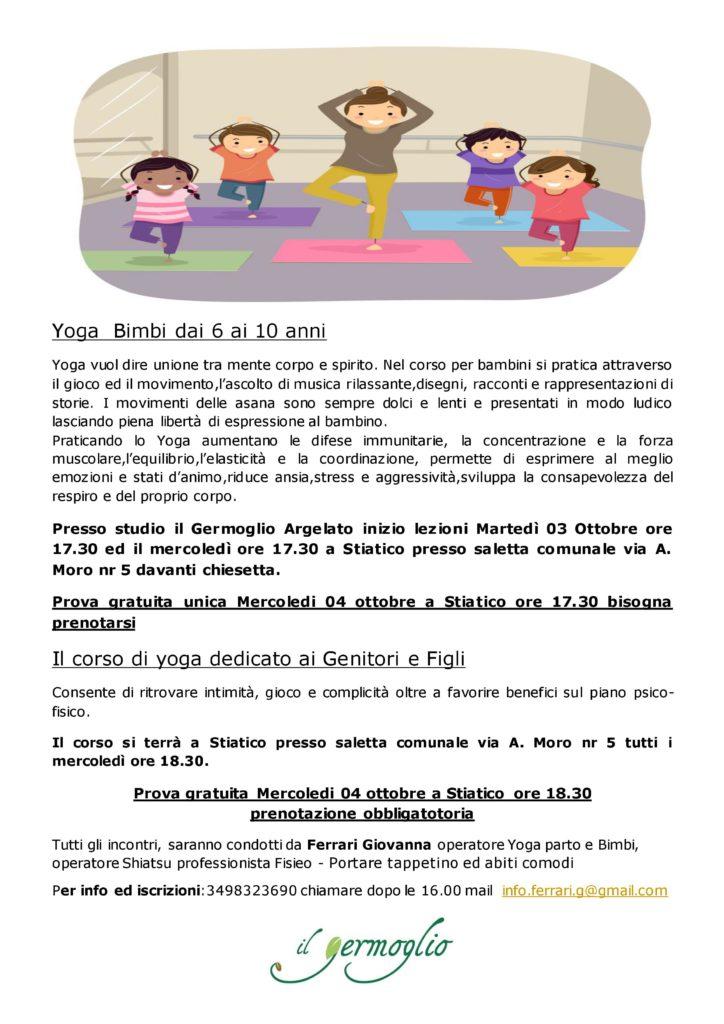 Yoga Bimbi dai 6 ai 10 anni